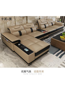 Sofa-Set Corner Casa Living-Room Muebles-De-Sala Sectional Real Moveis Minimalist Genuine-Cow-Leather