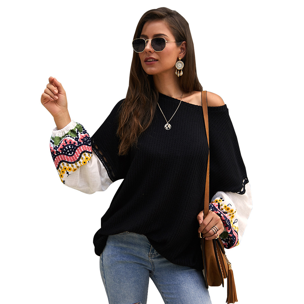 Embroidery Knitting Pullovers Black Sweaters Autumn Long Sleeve Fashion Simplee Top Designer Women's New 2019 Dropshipping