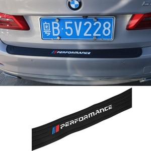 Image 2 - BMW X3 f25 e83 X4 f26 X5 e70 e53 f15 f85 X6 새로운 성능 고무 자동차 후면 범퍼 트림 후면 가드 플레이트 보호 스티커