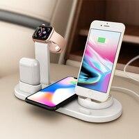 Kablosuz Şarj 3 in 1 Telefon Izle Braketi Apple iPhone Xs Max iWatch 4 3 2 1 Airpods Hızlı kablosuz Şarj Tipi C Istasyonu