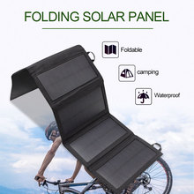 цена на solar charger foldable 5v 5w phone power bank solar panel USB charger lightweight portable for outdoor camping hiking