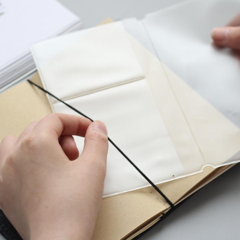 Traveler's Notebook Pvc Storage Bag Zipper Card Pocket  Folder A5/Standard/Portable/Passport  4 Sizes