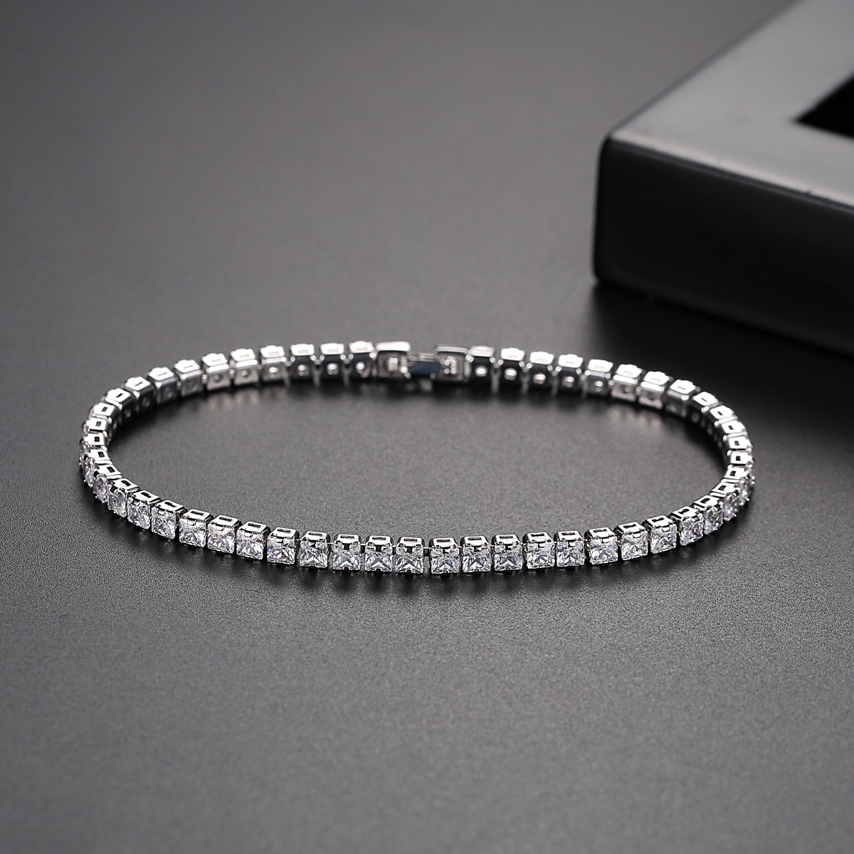 925 Sterling Silver 3mm 5MM 17cm 19CM CZ Tennis Bracelet Bangle For Women Wedding Fashion Jewelry Wholesale Party Gift S5650