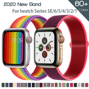 Nylon Strap for Apple Watch Band 44mm 40mm 42mm 38mm Sport Loop Soft Wristband Bracelet iWatch Series 6 5 4 3 2 SE Accesspories