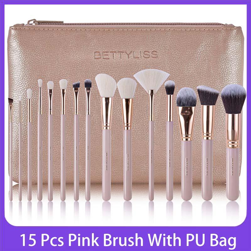 Bettyliss 15pcs Makeup Brushes set Professional Powder Foundation Eyeshadow Make Up Brushes Cosmetics Soft Synthetic Hair