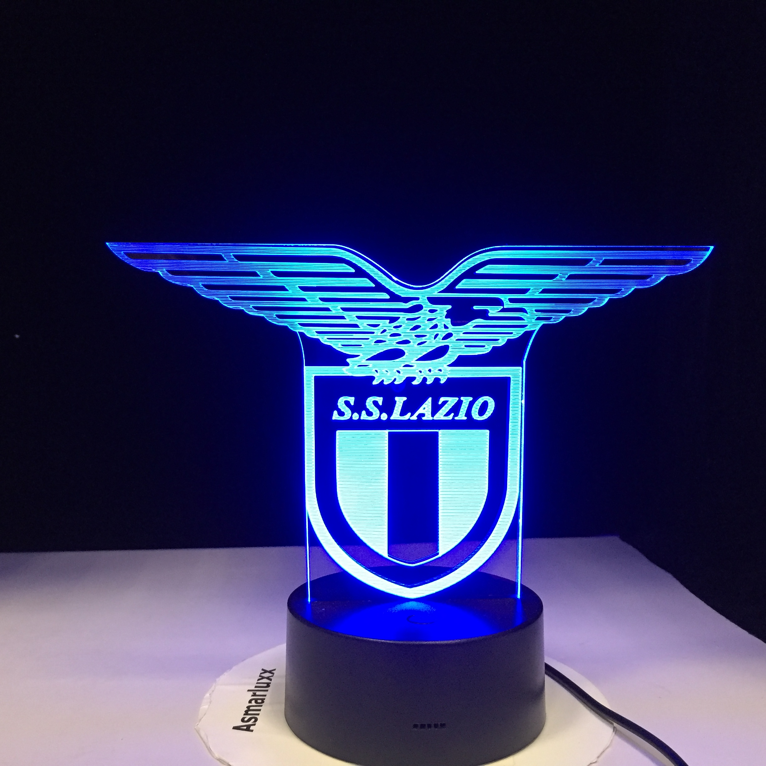 Ss Lazio Italian Club 3d Led Night Light Lamp Touch Sensor 7 Colors Changing Office Club Home Bar Room Decorative Table Gift