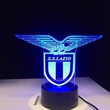 Ss Lazio Italian Club 3d Led Night Light Lamp Touch Sensor 7 Colors Changing Office Club
