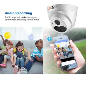 Image 2 - BESDER H.265 1080P 3MP 5MP Security Camera Indoor Dome IP Camera Audio Built in Microphone 48V PoE P2P ONVIF Email Motion Detect