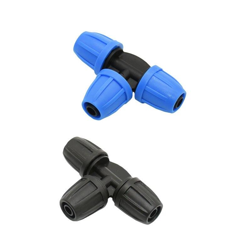 8/11 Garden Hose Tee Barb Connector Lock Nut 3/8