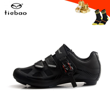 цена на Tiebao road bike shoes men zapatillas ciclismo self-locking riding bicycle sneakers breathable Athletic road racing bike  shoes