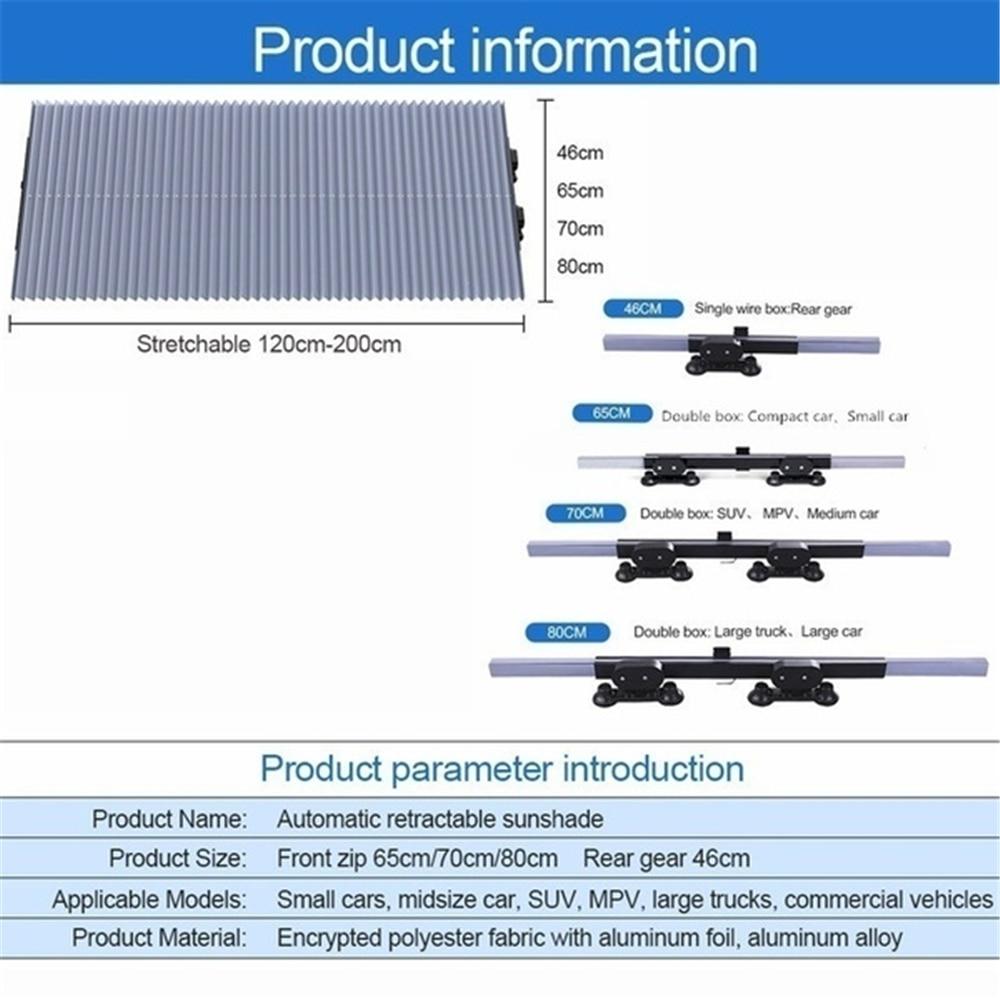 Купить с кэшбэком Car Window Sunshade Retractable Windshield Sunshade Cover Shield Curtain Foldable Auto Sun Shade Block Anti-UV Car Window Shade