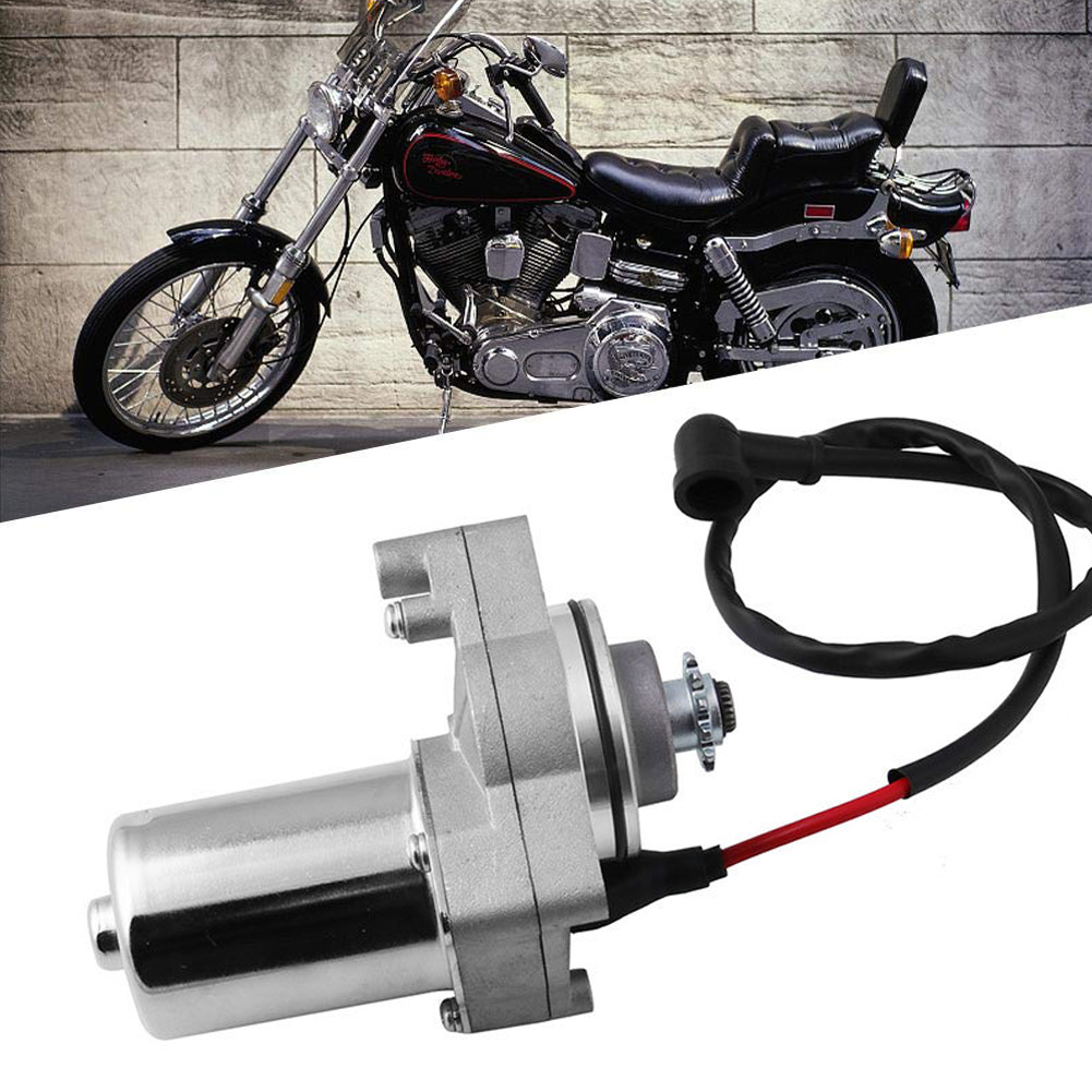 <font><b>Motor</b></font> Motorcycle Starter 12 Teeth Engine Mount <font><b>ATV</b></font> Easy Install 3 Bolt Iron Cooler Electric Quad Dirt Bike For 50cc 90CC <font><b>110CC</b></font> image
