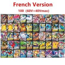 Jeu de cartes Pokemon Version française pour enfants, 100 pièces, 100Vmax 60V 60Tag 20EX 20MEG