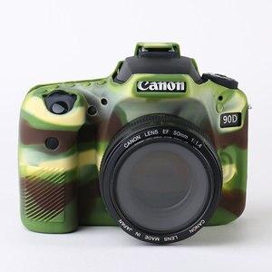 Image 2 - סיליקון שריון עור מקרה גוף כיסוי מגן עבור Canon EOS 90D DSLR מצלמה