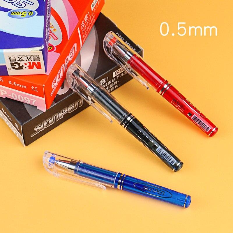 Criativo mini caneta gel 0.5mm azul/preto/vermelho tinta kawaii curto caneta neutra para crianças presente escrita caneta para escola material de escritório