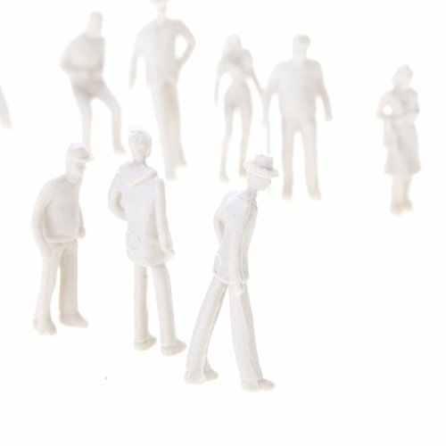 100 Pcs Dipinto Model Train Figure di Persone 1: 75