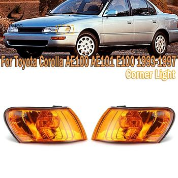 PMFC Front Signal Corner Light Cover Amber Lens Turn Signal Lamp For Toyota Corolla AE100 AE101 E100 1993 1994 1995 1996 1997 image