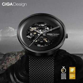 CIGA Design MY Series men's smart watch clock Automatic Mechanical Watch Hollowed-out Men Wrist Watch smartwatch