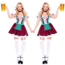 Sexy allemagne Oktoberfest bière fille Costume Halloween Cosplay traditionnel Oktoberfest Franch femme de chambre robe fantaisie(China)
