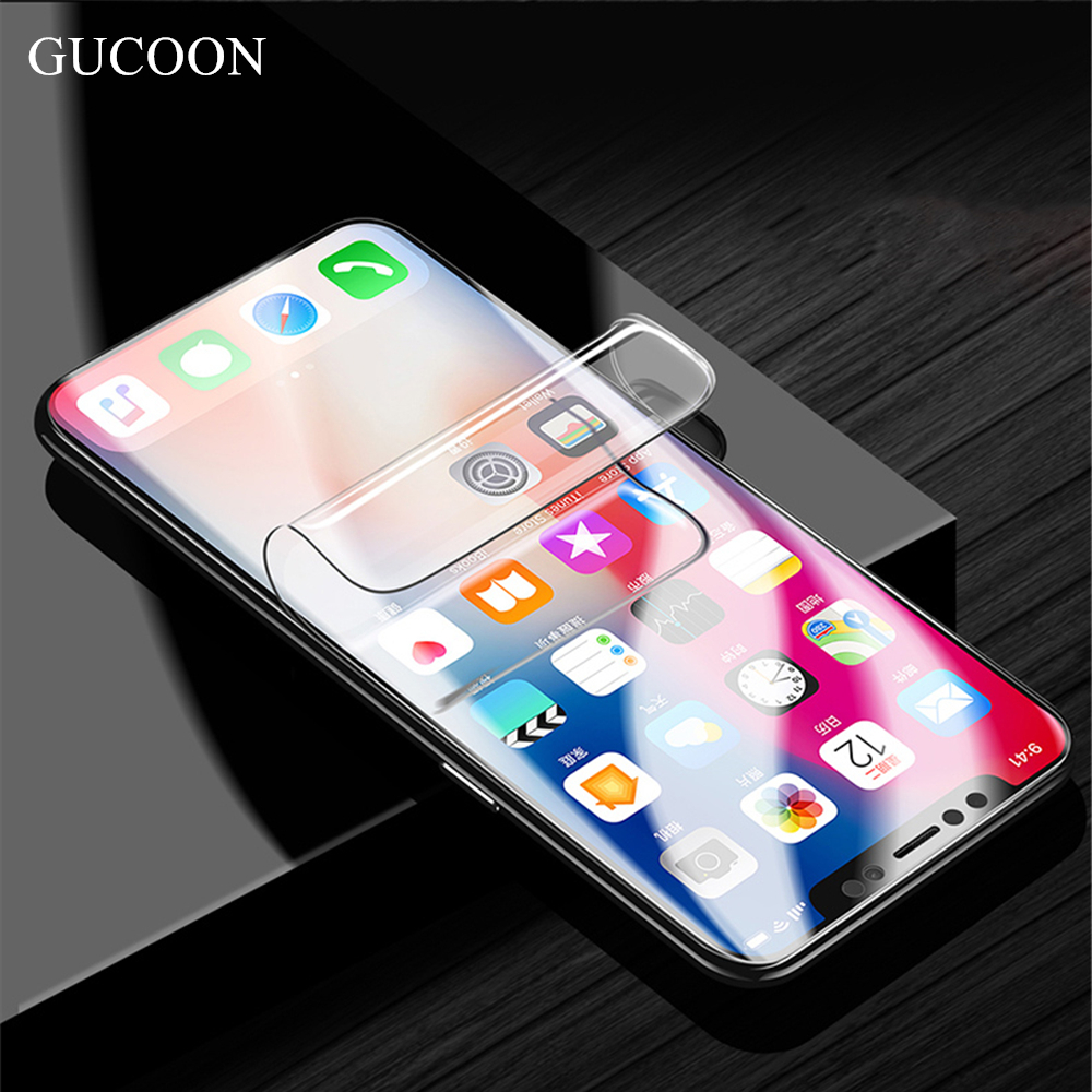 GUCOON Screen Protector for Xiaomi <font><b>Redmi</b></font> 7 <font><b>8</b></font> 6A 7A 8A Y3 Go K20 Pro Full Cover Soft <font><b>Hydrogel</b></font> Film HD Protective Film image