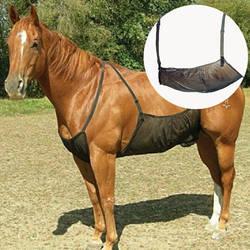 Коврик против царапин Противомоскитный наружный защитный чехол лошадь живот укус дышащий Регулируемый ошейник для собак эластичная сетка