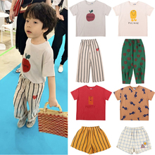 2020 Jelly Brand New Summer Kids T Shrits For Boys Girls Cute Fashion Print Short Sleeve T Shirts Baby Child Cotton Tops Tees