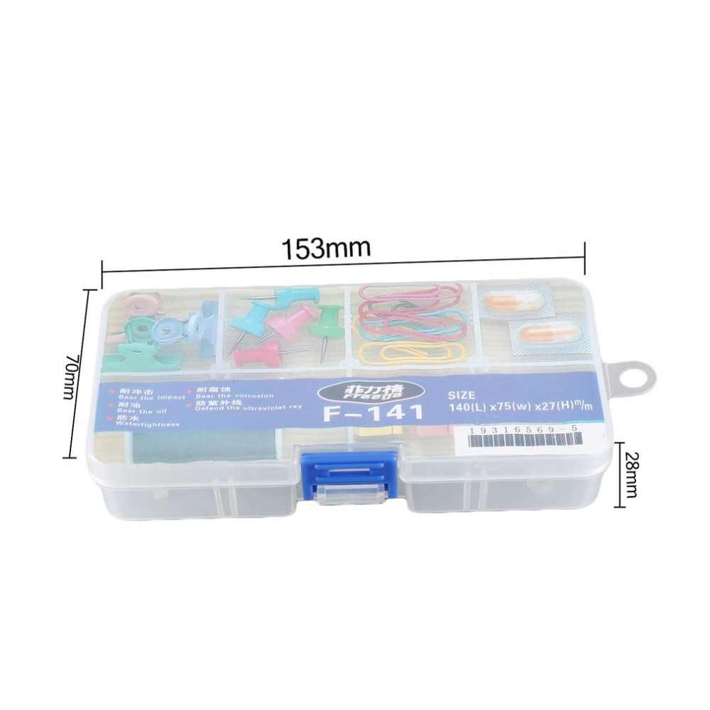 8 Grids Diy Cellen Draagbare Sieraden Tool Opbergdoos Container Ring Elektronische Onderdelen Schroef Kralen Organizer Plastic Kleurrijke Ca