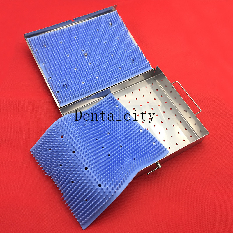 Sterilization Tray With 2 Silicone Mat Surgical Instruments