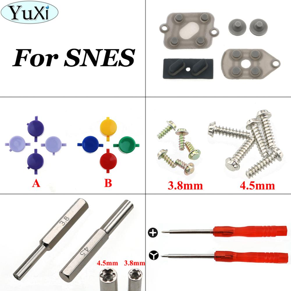 YuXi 3.8 4.5mm Screwdriver Security Bit For Nintend For SNES Rubber Button Contacting A B D Pad + Plastic Buttons +Y Shape Screw