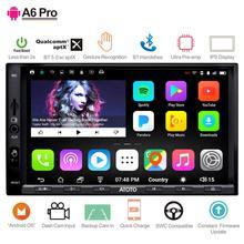 ATOTO A6 2 Din nawigacja GPS do samochodu z androidem odtwarzacz Stereo/2x Bluetooth/A6Y2721PRB G/gestów rąk pracy/Indash multimedialne Radio/WiFi USB