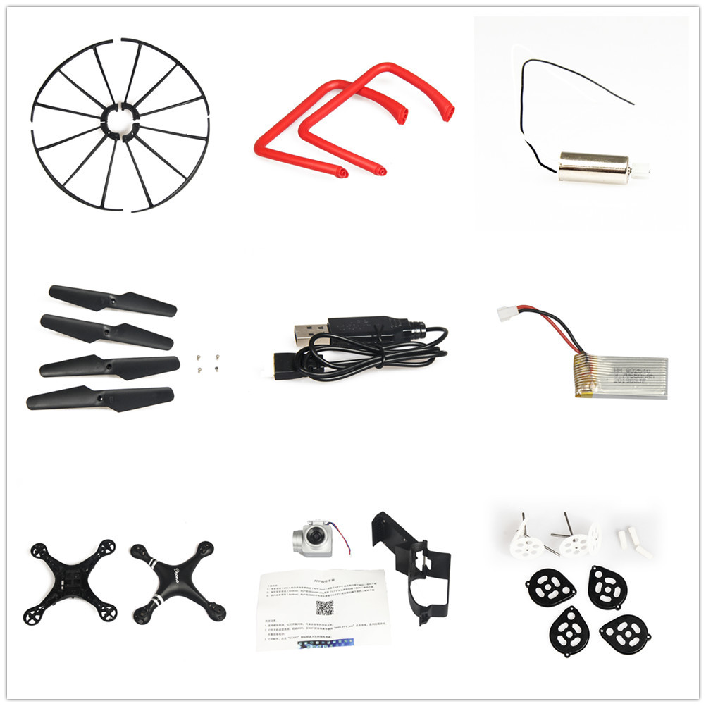 Quadcopter Unmanned Aerial Vehicle KY101 HJ14 S28 Accessories Motor Battery Blades Protective Ring Webcam