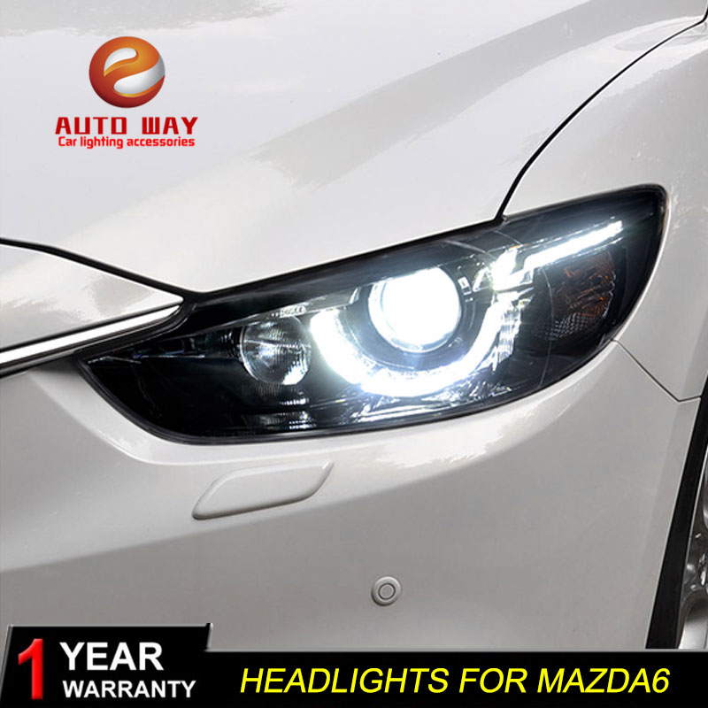 LED 2Way Daytime Running Light DRL Day Lights For Mazda 6 Atenza M6 2014~2016