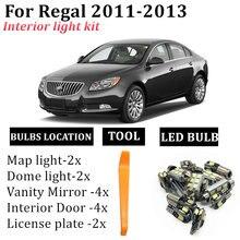 14x безошибочные светодиодный ные лампы для buick regal 20112012