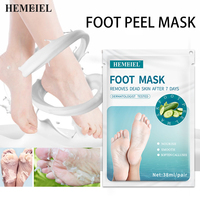 HEMEIEL Cucumber Hydrating Foot Peel Masks For Skin Removal Calluses Exfoliating Heel Socks Whitening Tender Feet 1Pair=2PCs 1
