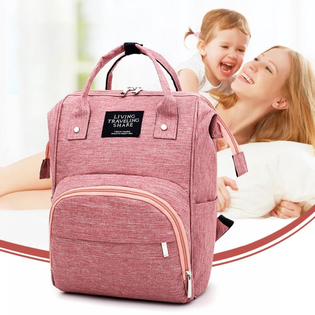 Large Capacity Waterproof Travel Mommy Backpack Casual Baby Nursing Nappy Bag Stylish And Convenient To Use Perfect Gift For Mom