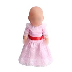 43 см платье для маленьких кукол розовое вечернее платье принцессы для новорожденных детские игрушки юбка подходит для американских 18 дюймо...