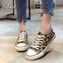2020 Woman Fashion Canvas Shoes High Quality Leopard Print F