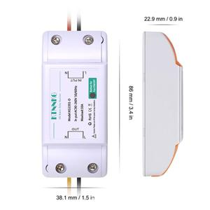 Image 4 - KTNNKG 110V 220C 1Gang Touch Panel Remote Control Light Switch Universal RF Receiver 433Mhz 10A Default ON Tempered Glass