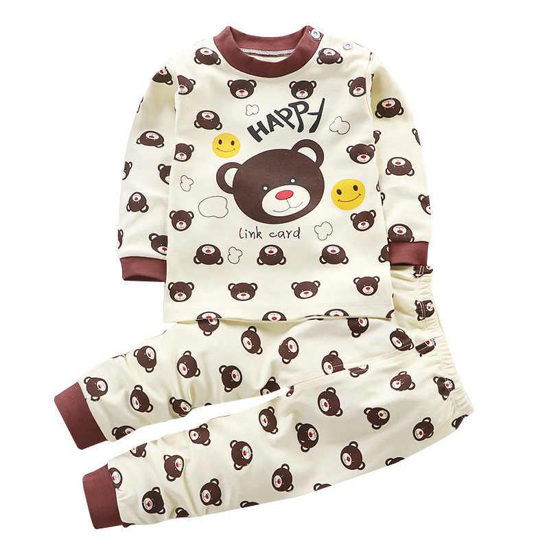 ベビーパジャマの少年少女服ハローキティセット冬新生児服ミニートップス + パンツユニセックス子供服安いスタッフ