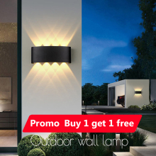 LED Wall Lamps IP65 Waterproof Indoor Outdoor Lighting Aluminum Wall Lights for Home