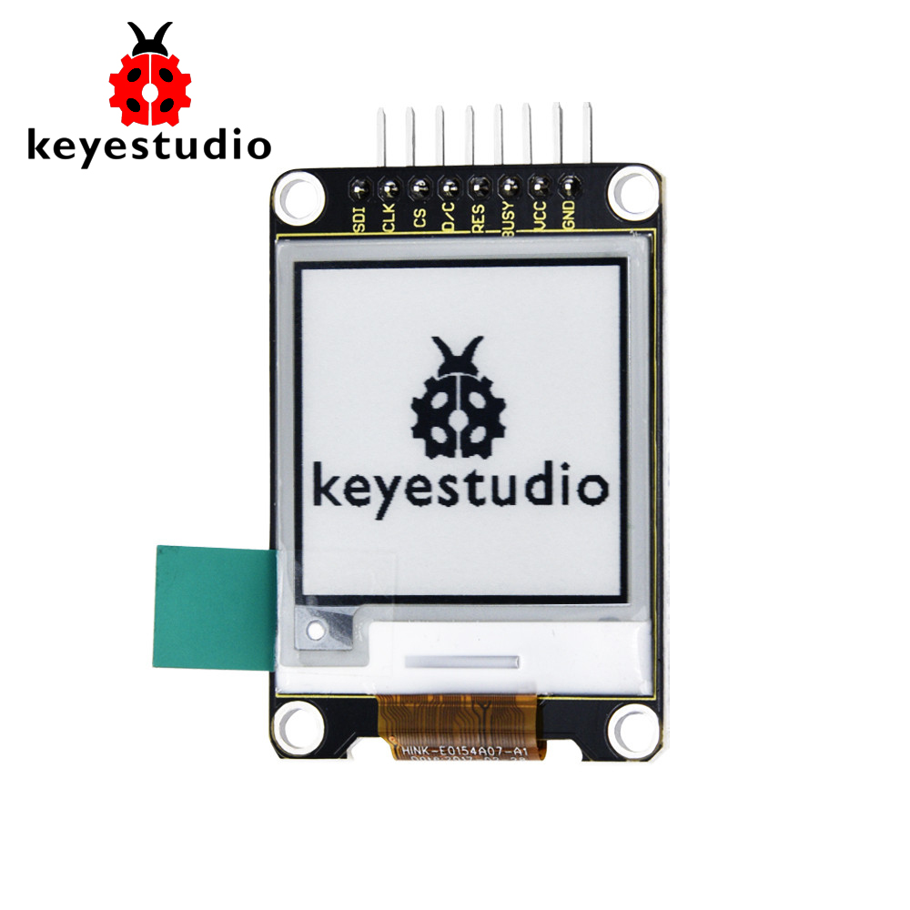 Keyestudio  1.54 Inch E-Ink  Display LCD Screen Module  200*200 for Arduino(black and white)