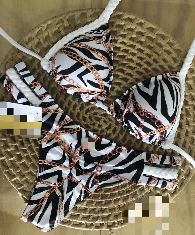 Bikini 2020 New Style Two-Piece Swimsuits Women's Striped Swimsuit Swimwear Women Camping Sexy Suits