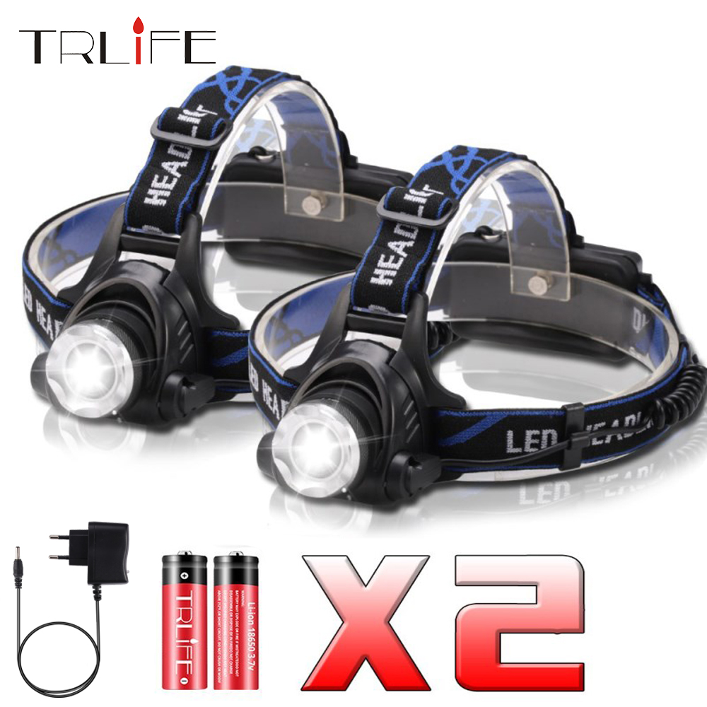 Super Bright LED Headlamp T6/L2 Headlight 3 Lighting Modes With Intelligent Light Sensing For Camping, Fishing