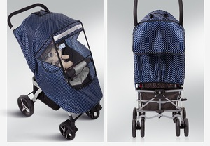 Image 3 - Baby Stroller Raincoat Cover Trolley Umbrella Pram Rain Cover Snow Windshield