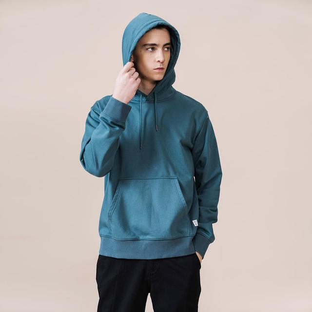 SIMWOOD 2021 Spring Winter New Hooded Hoodies Men thick 360g fabric solid basic sweatshirts quality jogger  texture  pullovers 3