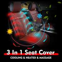 New Auto winter / summer Seat Cover 12V Universal 3 In 1 Leather Car Cooling Warm Heated Massage Chair Seat Cushion