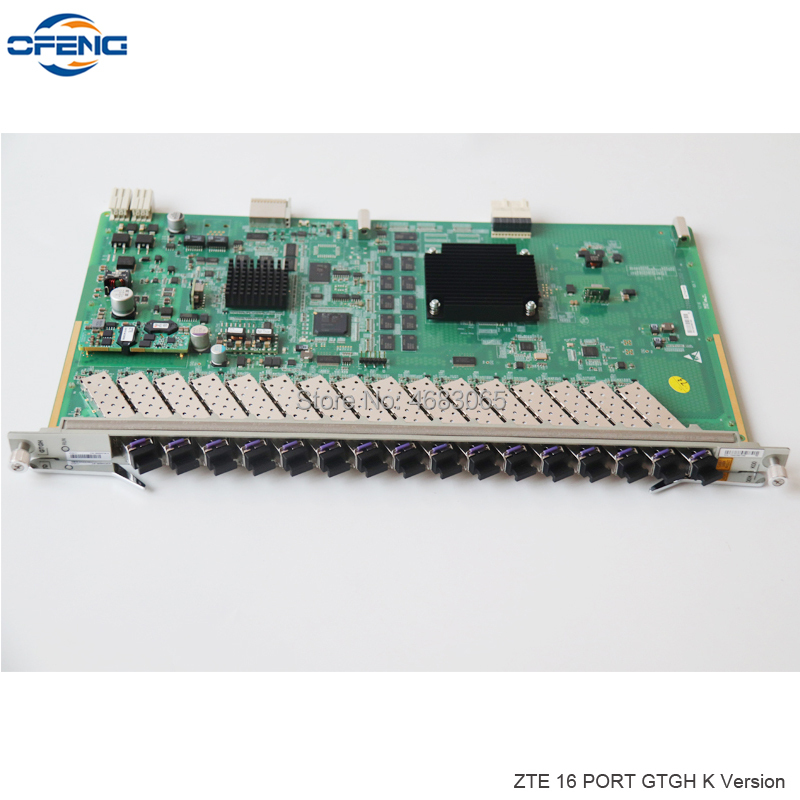 New GTGHK C++ ZTE GTGH GPON Interface Card 16 Port ZTE GTGH With 16 SFP Modules C++ For C300 C320 OLT