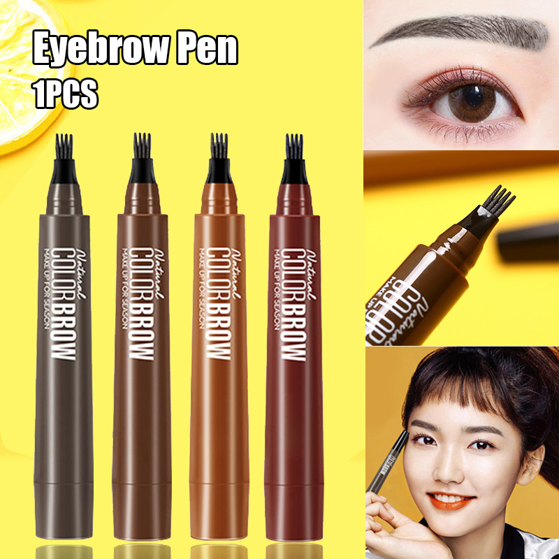 Hot 4 Points Eyebrow Pen Waterproof Fork Tip Long Last Sweat-proof Eyebrow Pencil Tattoo Nude Sketch Liquid Eye Brow Pencil T6