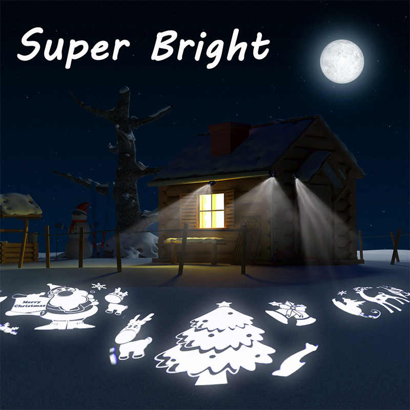 YINUO אור LED חג המולד לילה אור 3D גלקסי מסתובב מקרן ליל כוכבים אור כוכבים שמיים תאורת חידוש קסם כדור מנורה