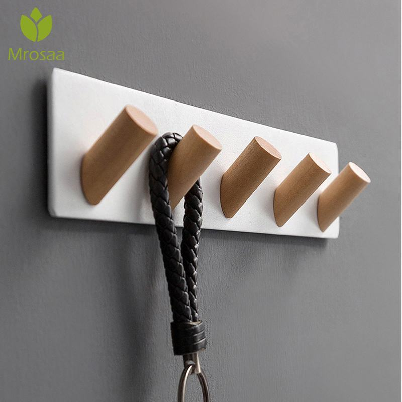 Nordic Simple Style Bedroom Door Back Coat Rack Clothes Hanger Hooks Living Room Closet Metal Hat Racks Keys Hanger Wall Hook